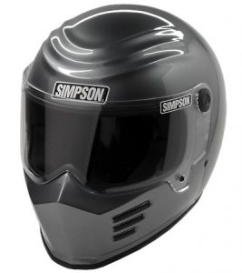simpson-outlaw-bandit-helmet-gunmetal-front-view