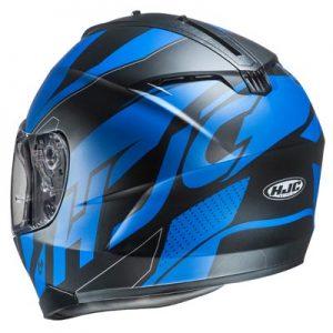HJC-C70-boltas-blue-black-motorcycle-helmet-rear-view