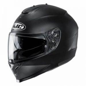 HJC C70 matt black motorbike crash helmet side view