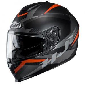 HJC-C70-troky-black-orange-crash-helmet-top-side-view