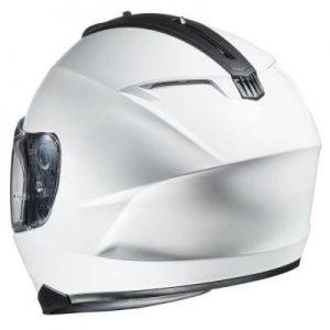 HJC-C70-white-motorcycle-helmet-rear-view