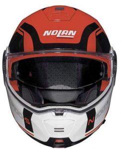 Nolan N100-5 consistency corsa red motorcycle helmet front view