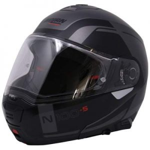Nolan N100-5 consistency flat lava grey modular helmet side view