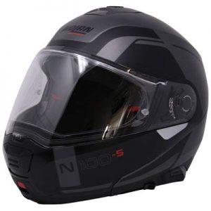 Nolan N100-5 consistency flat lava grey modular helmet side view