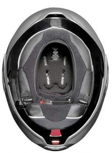 Nolan N100-5 motorcycle helmet inside view