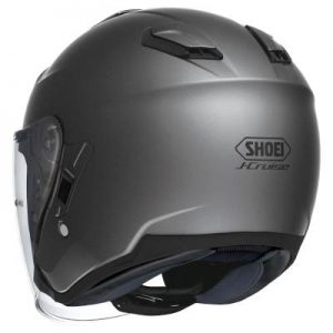 Shoei J-Cruise Corso anthracite grey motorcycle helmet rear view