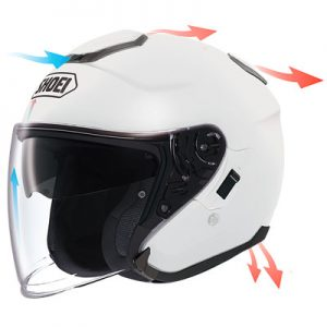 Shoei-J-Cruise-solid-white-airflow-diagram