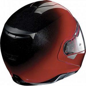 nolan-n100-5-fade-red black rear view