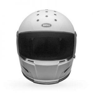 Bell eliminator helmet gloss white font view