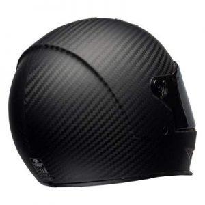 Bell eliminator motorbike helmet matt black rear view