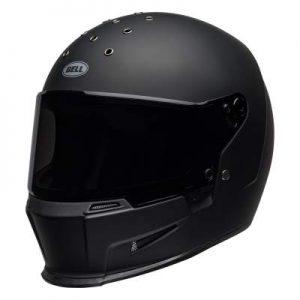 Bell eliminator motorbike helmet matt black side view