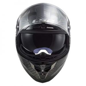 LS2 Challenger carbon fibre helmet front view