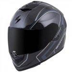 Scorpion exo-st1400 antrim grey white carbon helmet side view
