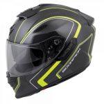 Scorpion exo-st1400 hi viz antrim crash helmet side view
