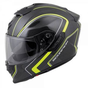 Scorpion exo-st1400 hi viz antrim crash helmet side view