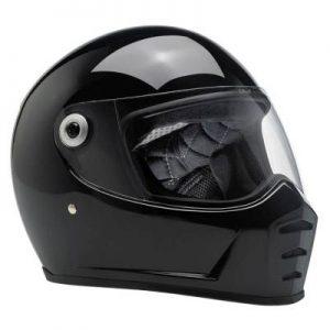 biltwell lane splitter factory motorcycle helmet side view
