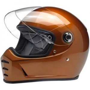 biltwell lane splitter helmet in gloss copper side view