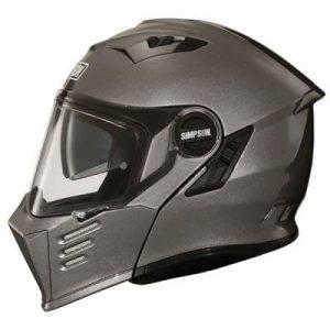 simpson darksome gun metal helmet side view