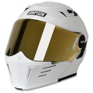 simpson mod bandit helmet gloss white front view
