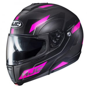 hjc-cl-max-3-flow-black-purple-flip-crash-helmet-side-view