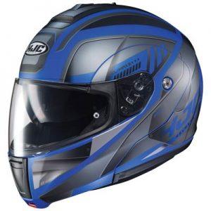 hjc-cl-max-3-gallant-black-blue-modular-helmet-side-view