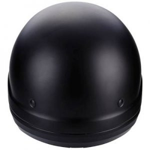 scorpion exo combat matt black motorbike helmet rear view