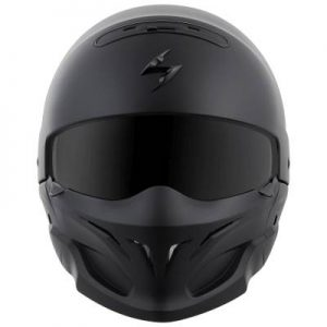 scorpion exo covert matt black helmet front view