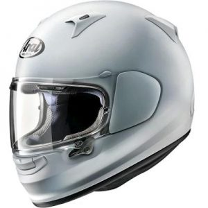 arai Regent X diamond white helmet side view