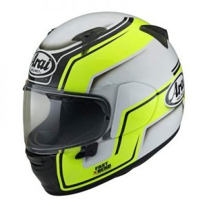 arai Regent X bend motorcycle helmet hi viz side view