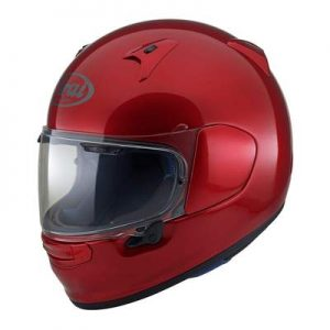 arai Regent X motorcycle helmet calm red side view