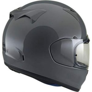 arai Regent X motorcycle helmet modern grey rear view