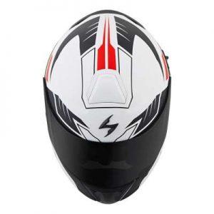 scorpion exo gt920 shuttle modular helmet top view