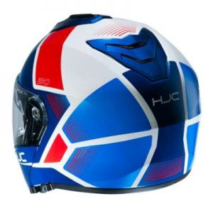 HJC I90 Hollen motorcycle helmet rear view