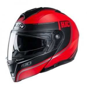 HJC I90 davan crash helmet side view