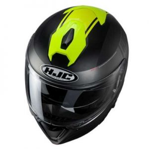HJC I90 davan crash helmet top view