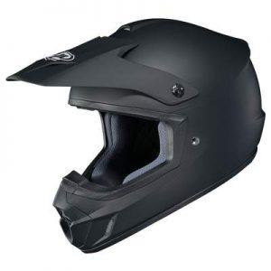 hjc cs-mx 2 matt black motocross helmet side view