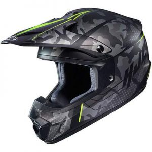 hjc cs-mx 2 motocross helmet sapir yellow side view