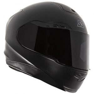 speed-strength-SS5100-solid-black-crash-helmet-front-view