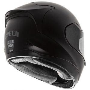 speed-strength-SS5100-solid-black-crash-helmet-rear-view
