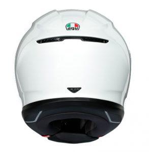 AGV-K6-Mono-white-sports-touring-helmet-rear-view