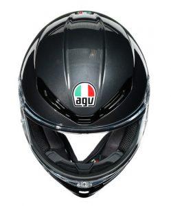 AGV-K6-Multi-Minimal-gunmetal-fluo-motorbike-helmet-top-down
