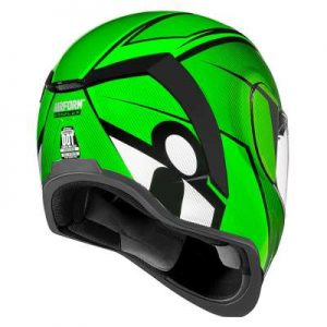 icon airform conflux green helmet rear view