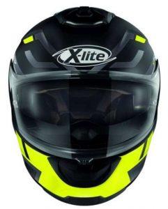 x-lite x-903 impetus black yellow helmet front view