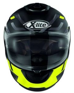 x-lite x-903 impetus black yellow helmet front view