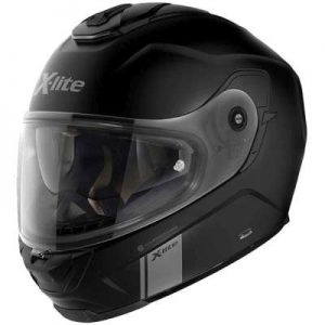 x-lite x-903 modern class flat black touring helmet side view