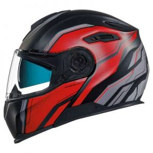 Nexx X.Vilitur paradox black red flip up motorbike helmet side view