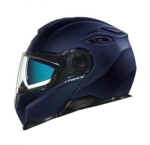 Nexx X.Vilitur plain blue modular helmet side view
