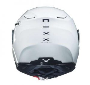Nexx X.Vilitur plain white modular helmet rear view