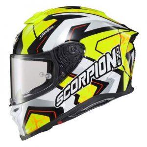 Scorpion Exo R1 Air Alvaro Bautista replica racing helmet side view
