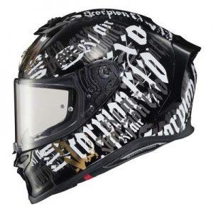 Scorpion Exo R1 Air BlackLetter helmet side view